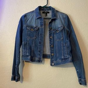 Cropped Jean Jacket   Sz M